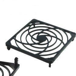 Grilaj plastic pt.ventilator, prindere clichet, 90x90mm