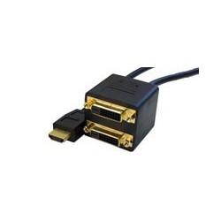 Adaptor HDMI tata-2xDVI mama C-565