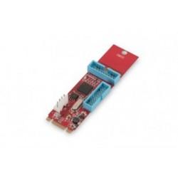 Adaptor PCIe NGFF(M2) - 2x19 pini USB 3.0 Digitus