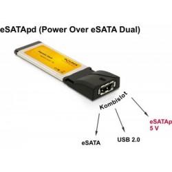Adaptor ExpressCard-eSATA +USB Delock
