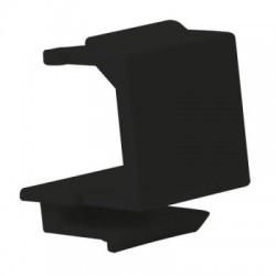 Capac negru protectie montare clichet