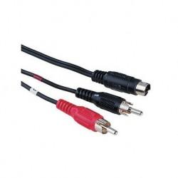 Cablu SVHS 4 pini tata2RCA-SVHS 4 pini tata2RCA