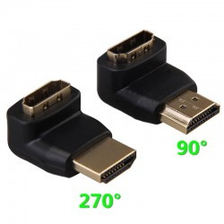 Adaptor HDMI 90 grade gold  VC-010G