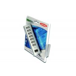 Hub USB 2.0, 7 Porturi cu alimentare externa si switch onoff Ednet