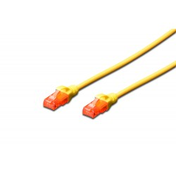 Patch cord - 0.5m galben cat.6 Digitus