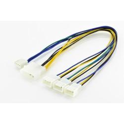 Cablu Y alimentare Molex-3ventilatoare PWM