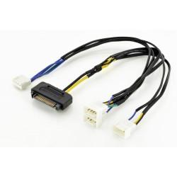 Cablu Y alimentare SATA-3ventilatoare PWM