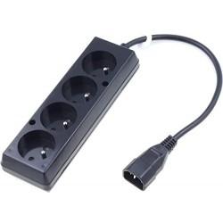 Cablu alimentare  C14 - grup 4 prize  0.3m