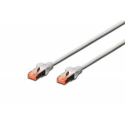 Patch cord SFTP- 0.25m gri cat.6 CU,LSZH Digitus