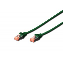 Patch cord SFTP- 0.25m verde cat.6 CU,LSZH Digitus