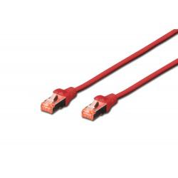 Patch cord SFTP- 0.25m rosu cat.6 CU,LSZH Digitus