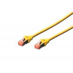 Patch cord SFTP- 0.25m galben cat.6 CU,LSZH Digitus