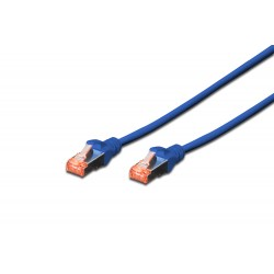 Patch cord SFTP- 0.5m albastru cat.6 CU,LSZH Digitus