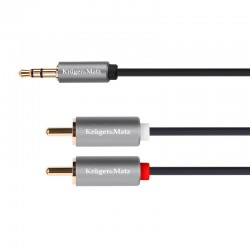 Cablu 3.5 tata - 2 RCA tata 5m Kruger&Matz