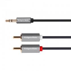 Cablu 3.5 tata - 2 RCA tata 1m Kruger&Matz
