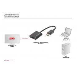 Convertor 4K2K/60Hz Display Port - HDMI Digitus