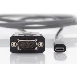 Convertor cablu USB type C - VGA 2m Digitus
