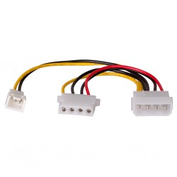 "Cablu adaptor alimentare 5.25""tata-5.25""mama+3pin mama Akyga"