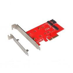 Adaptor PCI-E 2x M.2 Card (PCI-E/SATA)  i-Tec