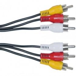 Cablu 3RCA tata - 3RCA tata 10m