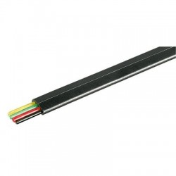 Cablu telefonic plat 4 fire negru