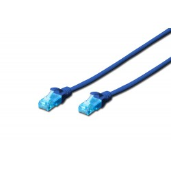 Patch cord - 0.25m albastru cat.5e Digitus