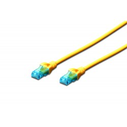 Patch cord - 0.25m galben cat.5e Digitus