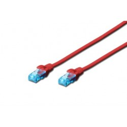 Patch cord - 0.5m rosu cat.5e Digitus