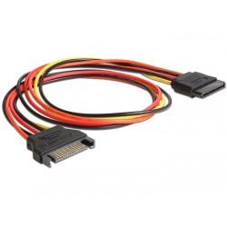 Cablu prelungitor alimentare SATA 50cm Delock