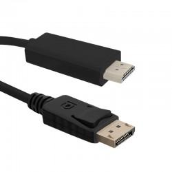 Cablu DisplayPort 1.2 la HDMI 1m Qoltec