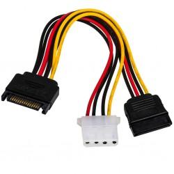 Cablu Y alimentare SATA la Molex+ SATA
