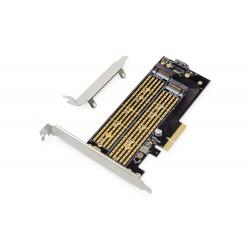 Adaptor PCIe 3.0(x4) M.2NGFF/NVMe SSD Digitus