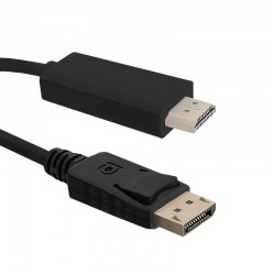 Cablu DisplayPort 1.2 la HDMI 3m Qoltec