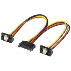 Cablu Y alimentare SATA cu mufa la 90 grade Goobay