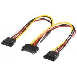 Cablu Y alimentare SATA  0.2m Goobay