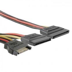 Cablu alimentare SATA tata la 2x SATA mama 0.2m QOLTEC