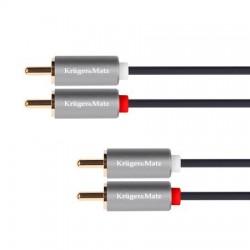 Cablu 2RCA tata - 2RCA tata 1m K&M