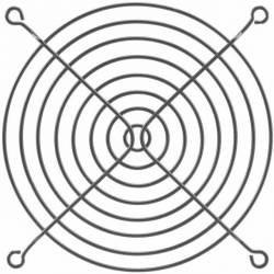 Grila protectie ventilator 80x80mm neagra