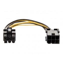 Cablu prelungitor alimentare PCIe 6pini tata - 6pini mama 40cm