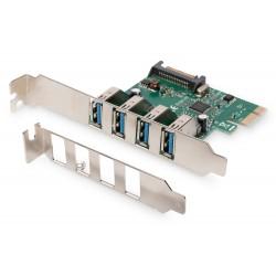 Adaptor PCIe - 4 porturi USB 3.0 Digitus
