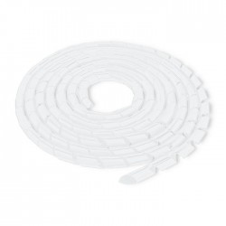 Spirala matisat cabluri 20mm transparent Qoltec