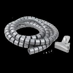 Organizator flexibil pentru cabluri LogiLink model KAB0013, argintiu, 2500 x 25 mm