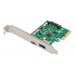 Adaptor card PCIe la USB 3.1 type C si USB-A
