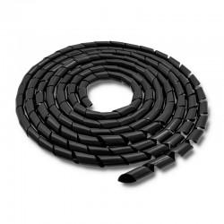 Spirala matisat cabluri 6mm neagra Qoltec