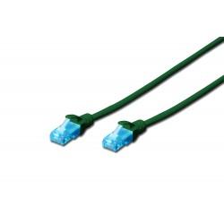 Patch cord - 0.5m verde cat.5e Digitus