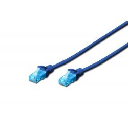 Patch cord - 0.5m albastru cat.5e Digitus