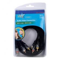Cablu 3RCA tata - 3RCA tata 5m HQCV-A012/5