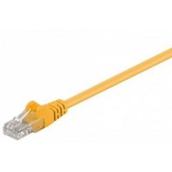 Cablu UTP Goobay Patch cord cat.5e 0.25m galben