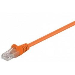 Cablu UTP Goobay Patch cord cat.5e 0.25m portocaliu