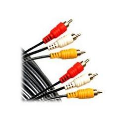 Cablu 3RCA tata - 3RCA tata 5m